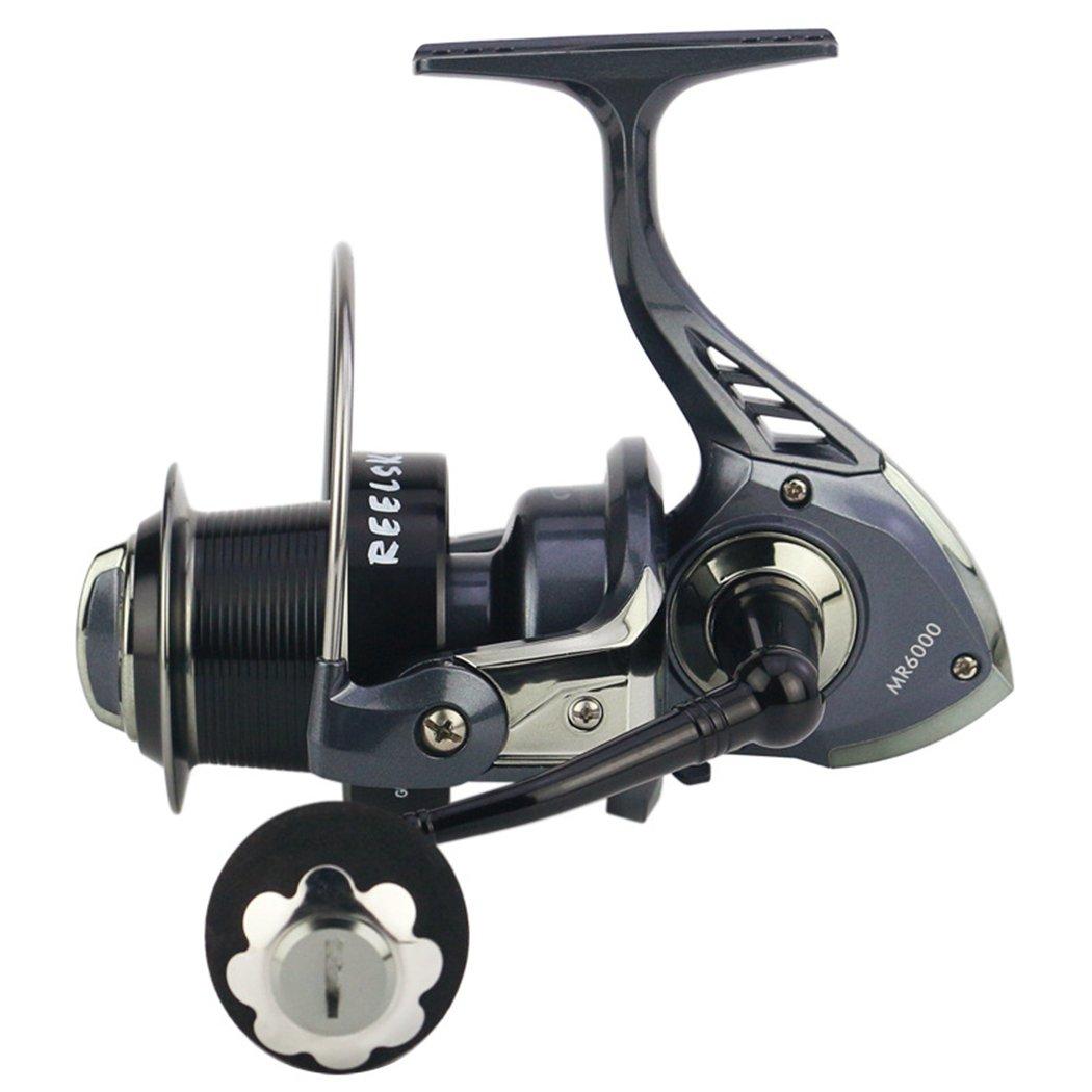 釣りリール、fansport釣りスピニングリール左右交換可能折りたたみ式ハンドル魚リール B07BK5BNNG MR6000 MR6000