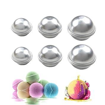 Kobwa Juego De 6 Bombas De Bano De Metal Para Manualidades 3