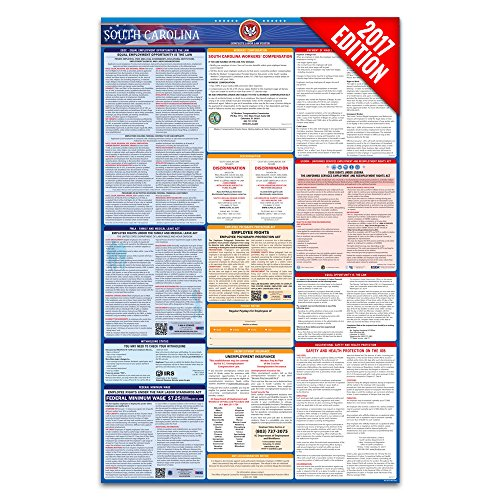 2017 South Carolina Labor Law Poster – State & Federal Compliant – Laminated