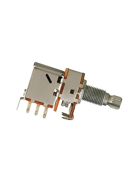 Potenciómetro de pulsador de bajo para guitarra eléctrica, volumen de audio, interruptor de control