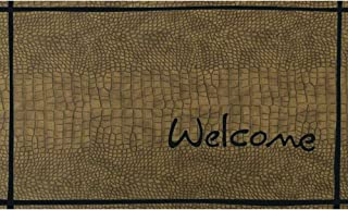 product image for Apache Mills Masterpiece Crocodile Welcome Door Mat, 18-inch by 30-Inch