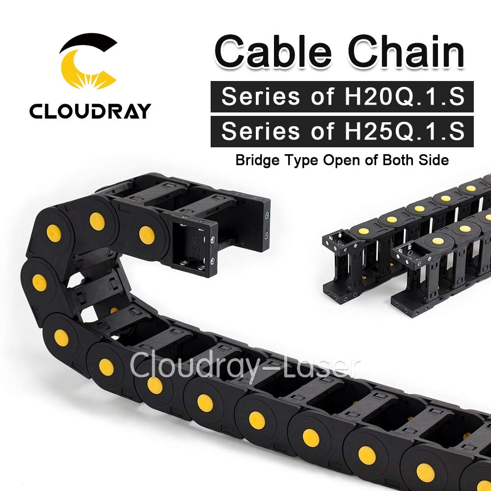 Ochoos Cable Chains JFLO Bridge Type Both Side Opening 20x38 20x50 25x38 25x50 25x60mm Plastic Towline Transmission - (Inner Size: 20x100 mm, Bending Radius: 75mm)