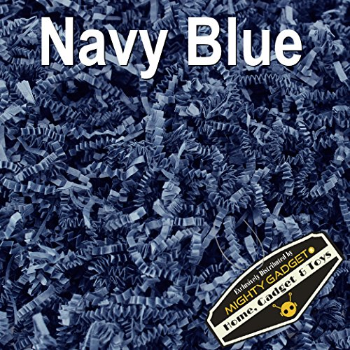 Basket Blue Gift (Mighty Gadget (R) 1 LB Navy Blue Crinkle Cut Paper Shred Filler for Gift Wrapping & Basket Filling)
