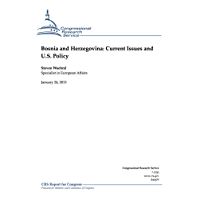 Bosnia and Herzegovina: Current Issues and U.S. Policy