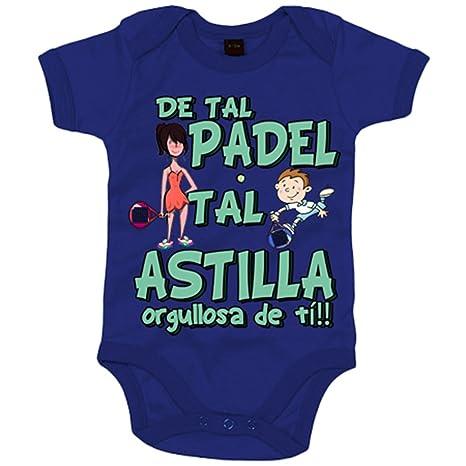 Body bebé madre y niño de tal padel tal astilla orgullosa de ti - Azul Royal