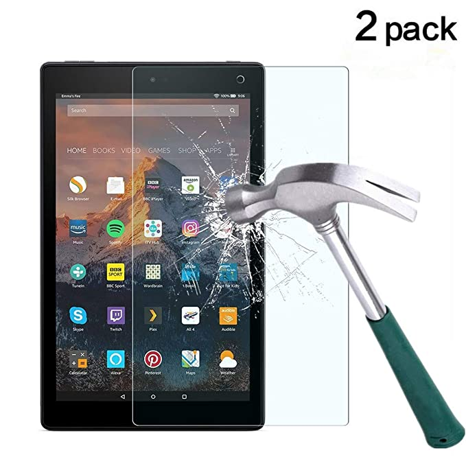 HD 10 inch HD Tempered Glass Screen Protector KHAOS For Kindle Fire HD 10