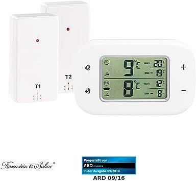 Rosenstein & Söhne - Termómetro digital para nevera y congelador ...