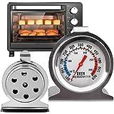 Termometro Horno,Vagalbox Termómetro de Cocina para Hornos,Termómetro de Monitoreo para Hornear de Cocina para Monitoreo para