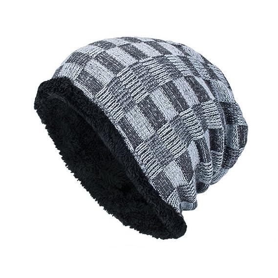 EUCoo Berretti Invernali da Sci per Uomo Mantieni Caldo Cappellino Elastico  con Cappuccio(Cachi 2d032417cbab