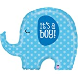 "It's A Boy Blue Elephant Baby Shower Party 32"" Foil Balloon"