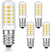 5 Pcs Maíz Bombillas LED E14 5W, 550LM, 230V, 3000K Blanco Cálido, Equivalente a Bombillas Halógenas 40W, 360° ángulo de…