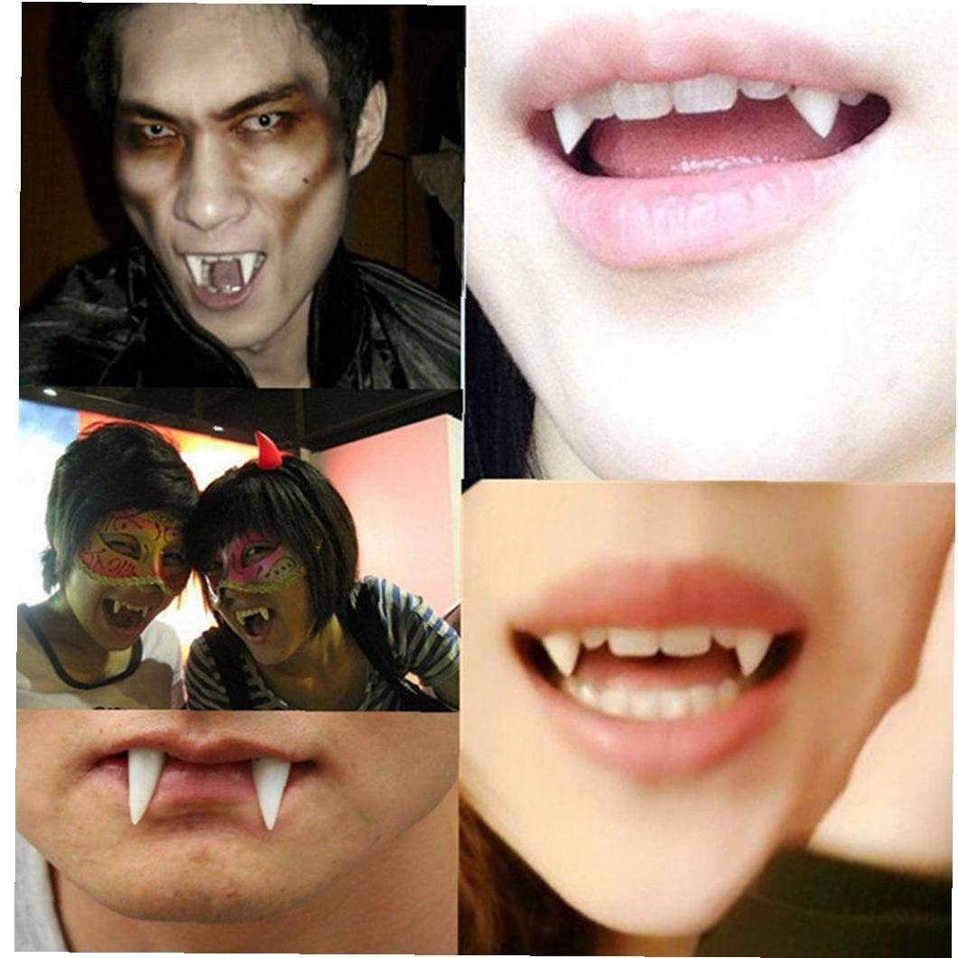 1pairs Denti del Vampiro Personalizzato Fangs Vampire Fangs Protesi Falso per Il Partito di Cosplay Props Halloween Party Zanne Favors Favori di Partito Vestire Accessori