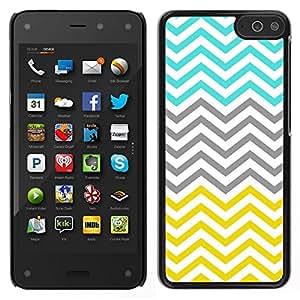 Caucho caso de Shell duro de la cubierta de accesorios de protección BY RAYDREAMMM - Amazon Fire Phone - Trullo Modelo amarillo minimalista