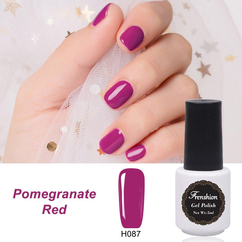 Frenshion 5ml 4Pcs Gel Nail Polish Semi Permanent Empapa del Kit de Manicura UV Polish Nail Polish-Escoge Cualquier 4 Colores: Amazon.es: Belleza