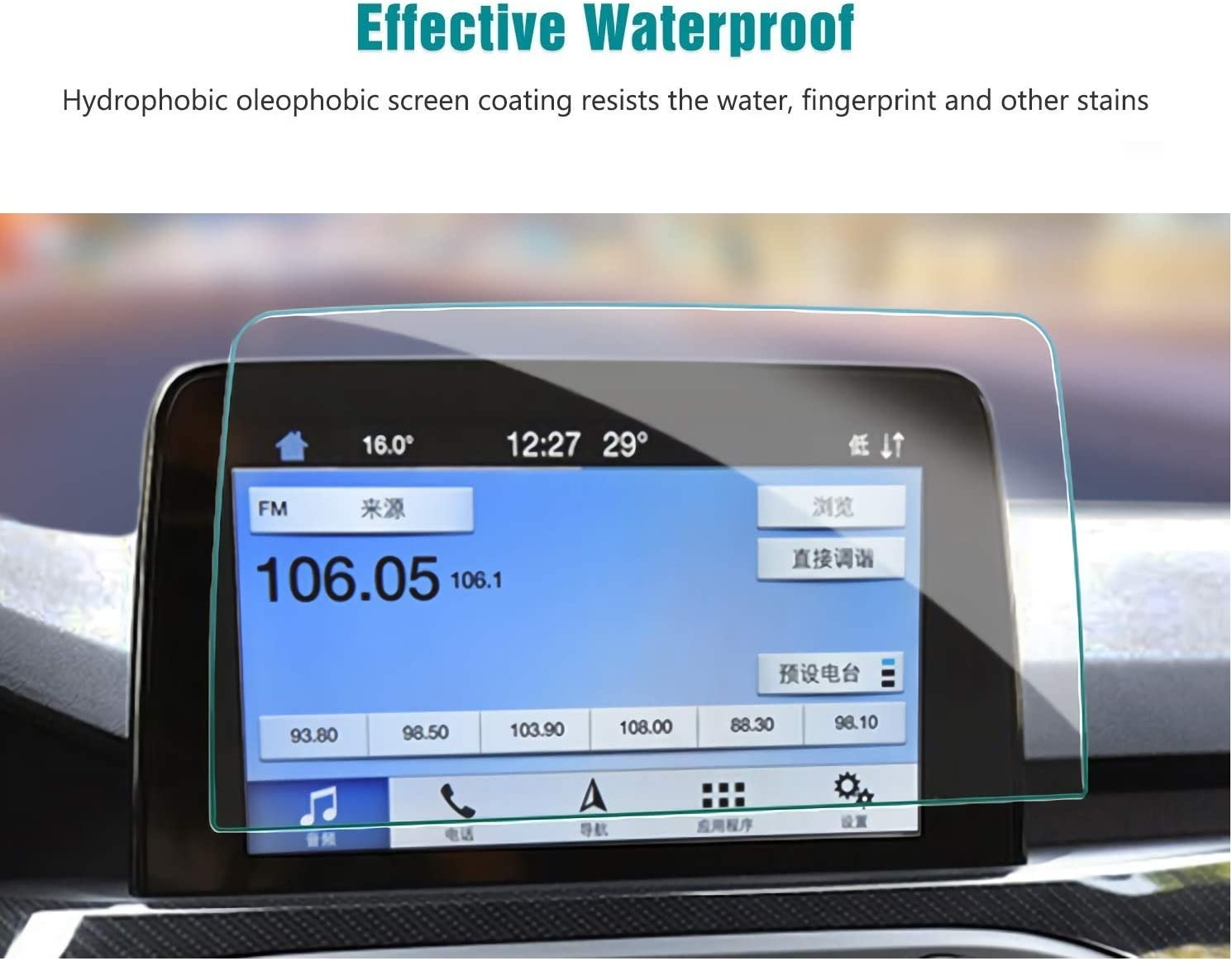 Screen Protector Compatible with 2020 Ford Escape Sync3 Touch Screen,Anti Glare Scratch,Shock Resistant,Flyingchan,Navigation Accessories