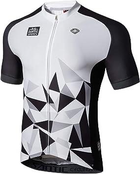 Santic Maillot Ciclista Hombre Top Ciclismo Bicicleta Bici Transpirable Secado Rápido Reflectante Jersey Ciclista Yorkson: Amazon.es: Deportes y aire libre
