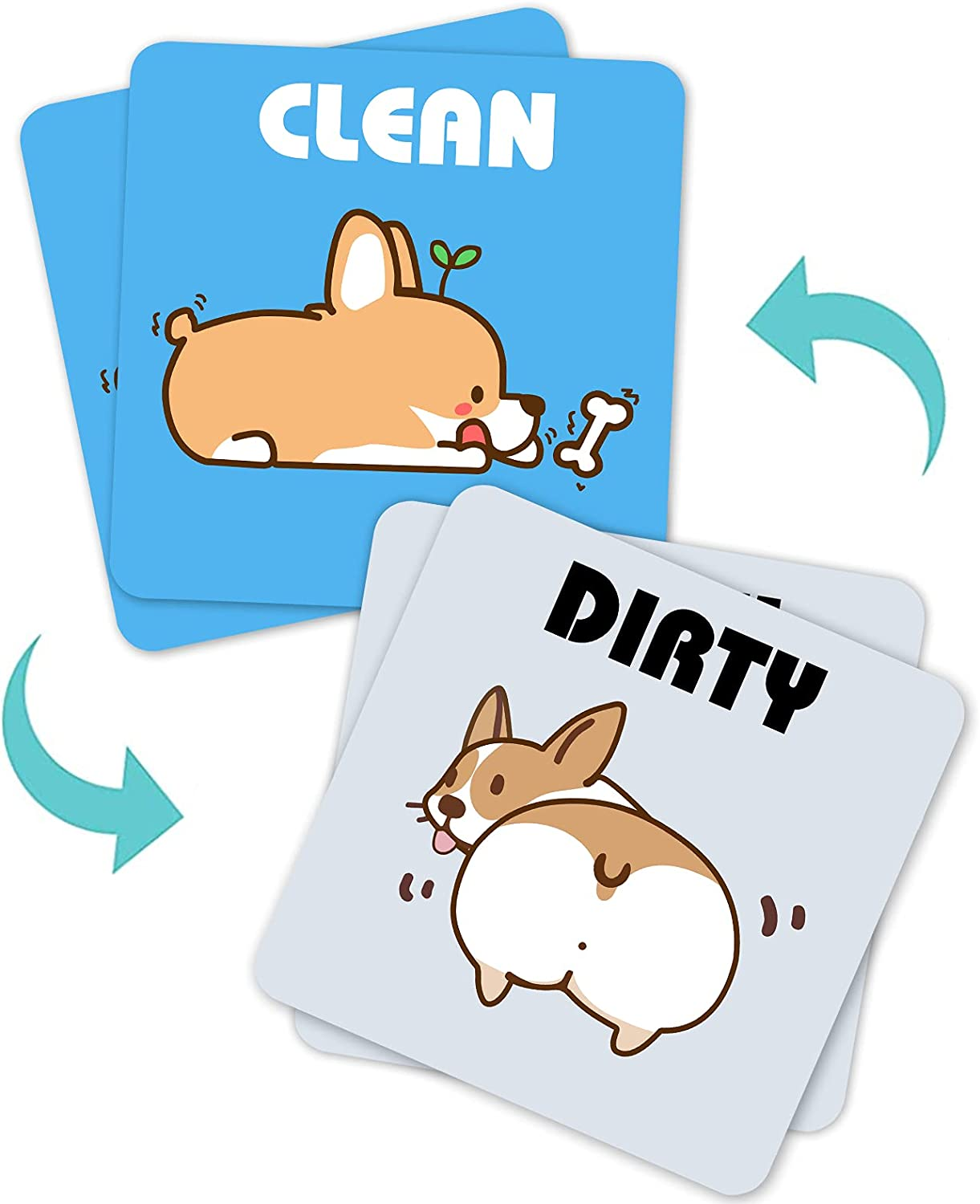 2PCS Dishwasher Magnet Max Max 58% OFF 59% OFF Clean Strong Sign Dirty Magne