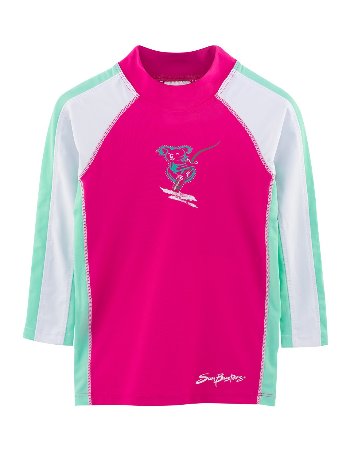 SunBusters Girls Long Sleeve Rash Guard 12 mos - 12 yrs, UPF 50+ Sun Protection Plangea