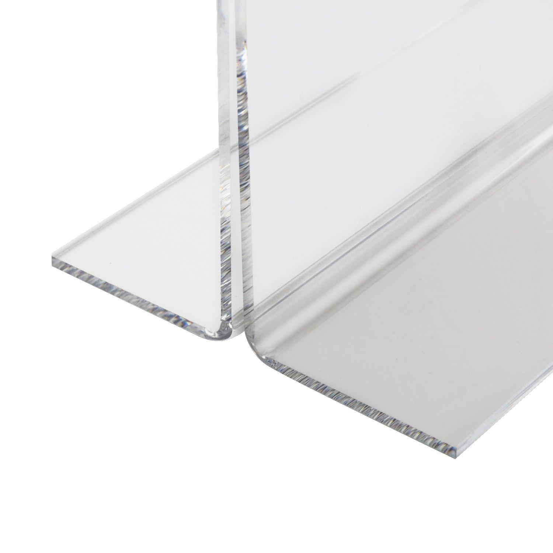 HMF 46925-5 x Supporto Pubblicitario Formato Orizzontale A4 acrilico 30 x 22,2 x 10 cm Supporto del Menu