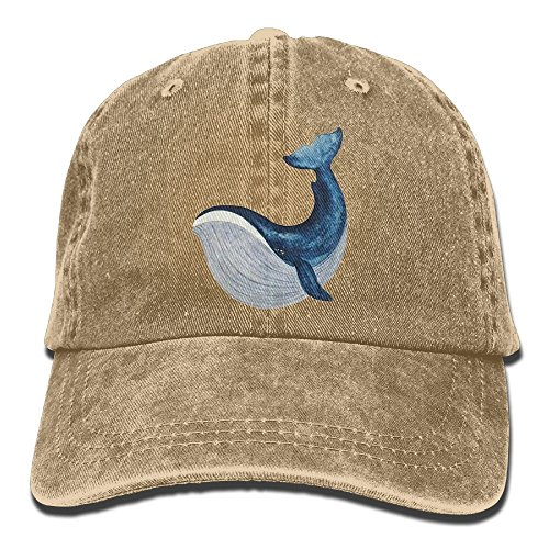 Raining Sunlight Humor Ocean Sea Swimming Blue Whale Pattern Adjustable Casual Gym Dad Hat Baseball Cap Baseball Humor Cap