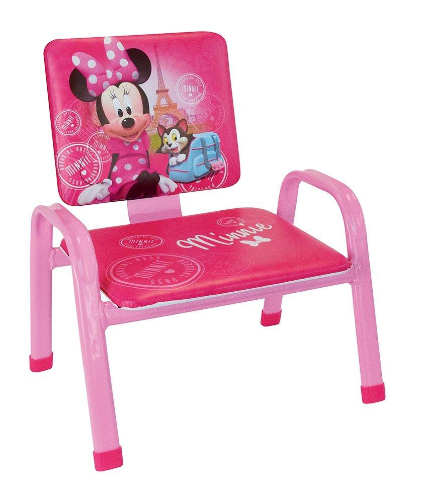 FUN HOUSE Disney Minnie Paris mio primo Poltrona per bambini, PVC, Acciaio, schiuma, 34x 32x 39cm CIJEP 712739