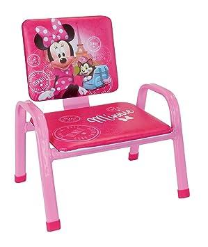 Fun House Disney Minnie Paris Mon Premier Silla para niños, PVC, Acero, Espuma, 34 x 32 x 39 cm