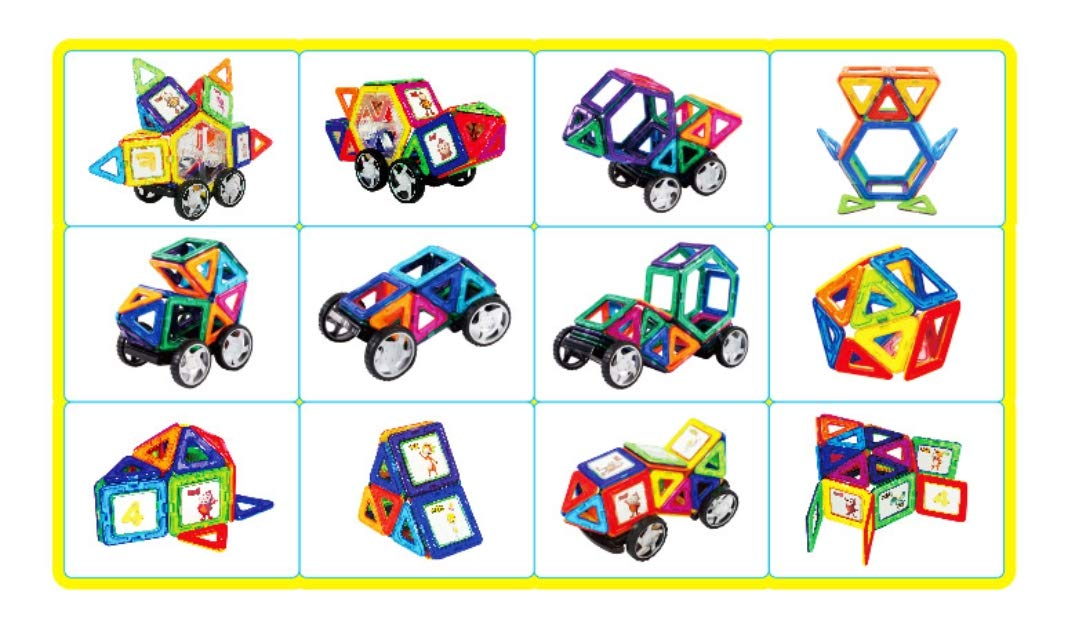 cocomong Magic Magnetic Building Blocks 44 Pieces Korea Animation Character by cocomong (Image #8)