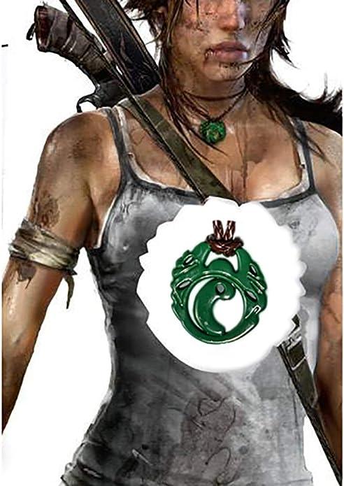 Mesky EU Shadow of The Tomb Raide Collar de Lara Croft Colgante ...