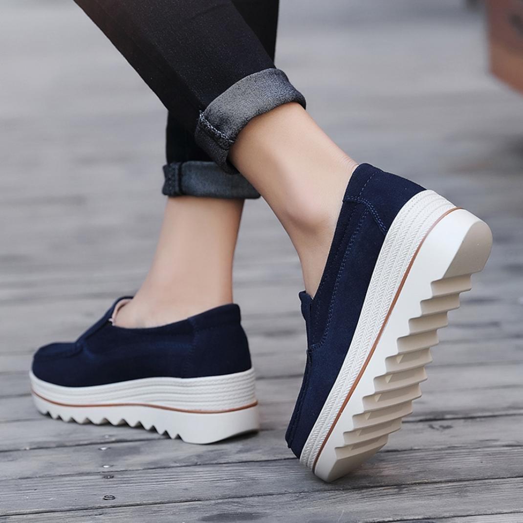 da0ee8a178089 Amazon.com: TOTOD Women Shoes Women Flats Muffin Shoes Sneakers ...