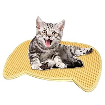 soundwinds Alfombrilla de Arena para Gato, Bandeja de Arena para Mascotas, Alfombrilla de alimentación
