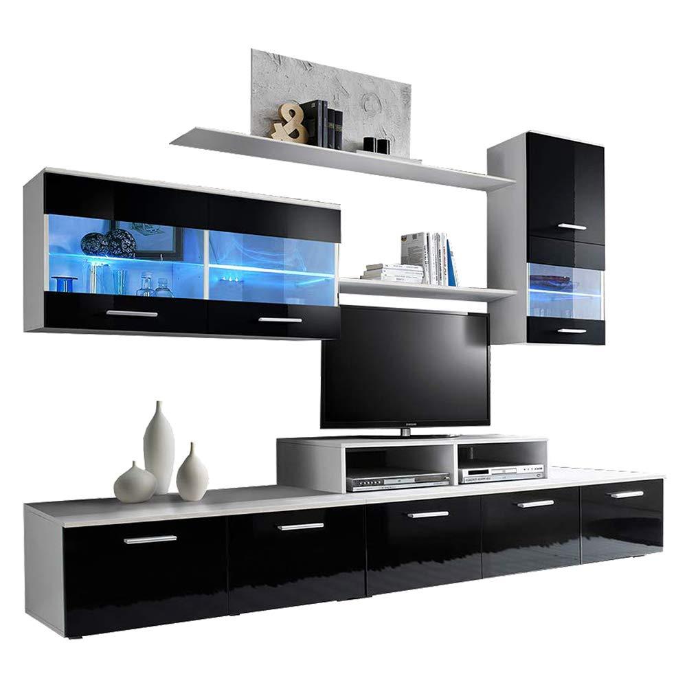 Amazon.com: Paris Contemporary Design Wall Unit/Modern Entertainment ...