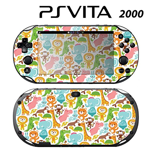 Skin Decal Cover Sticker for Sony PlayStation PS Vita Slim (PCH-2000) - Baby's Animal Zoo -  Decals Plus, PV2-PA16