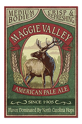 (Maggie Valley, North Carolina - Elk Pale Ale Vintage Sign (20x30 Premium 1000 Piece Jigsaw Puzzle, Made in USA!))
