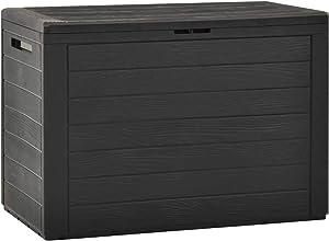 Tidyard Garden Storage Box PP Storage Cabinet 50.2 Gal Deck Box Garden Organizer Toolbox for Patio, Lawn, Poolside, Backyard Outdoor Furniture 38.7 x 17.3 x 21.7 Inches (W x D x H)