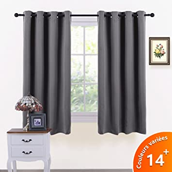 PONY DANCE Thermal Blackout Curtains   Short Window Treatments Blackout  Curtain Draperies For Kitchen Living Room