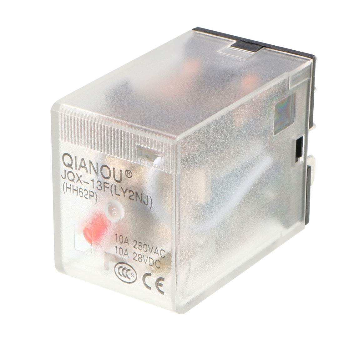 uxcell DC12V Coil Green Indicator Light 8 Pin DPDT Electromagnetic General Purpose Power Relay JQX-13F