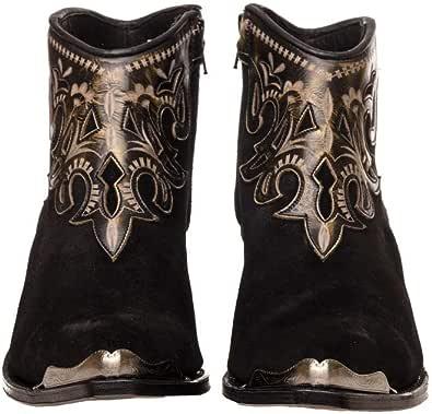 Sendra Boots Botín de Serraje con Repujado en Cuero 14627 Lia Serraje/Softy Delave