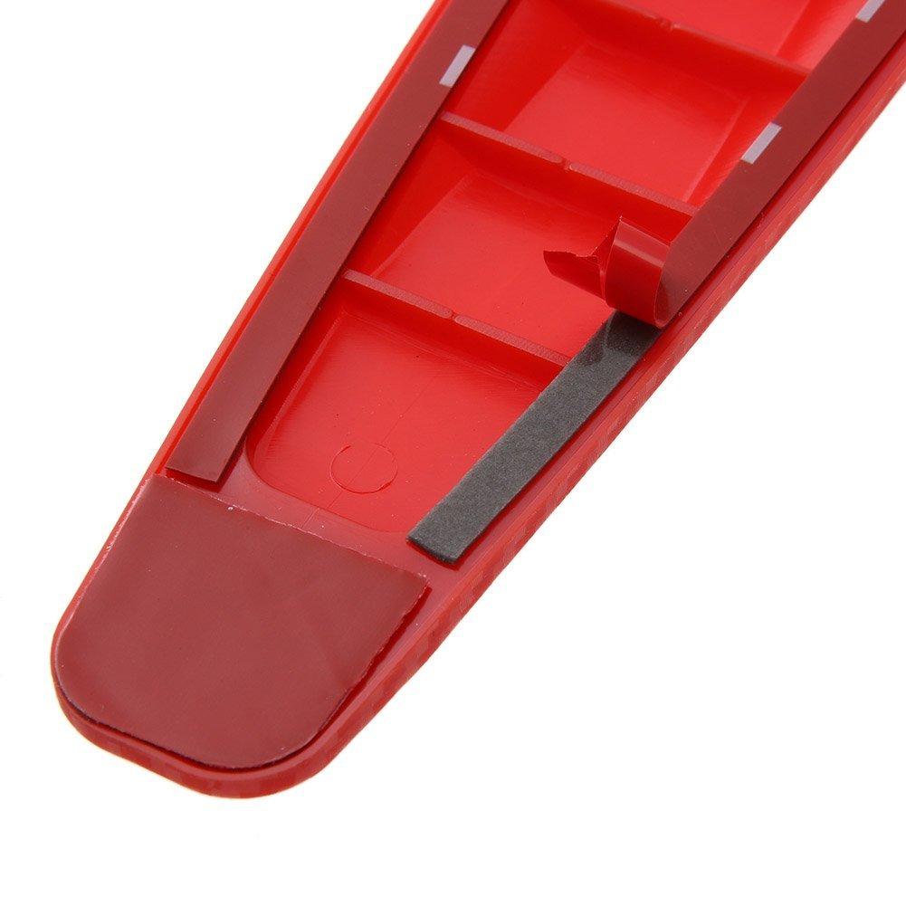 2 tiras antiara/ñazos para parachoques de coche Ahomi protector de goma color rojo esquina