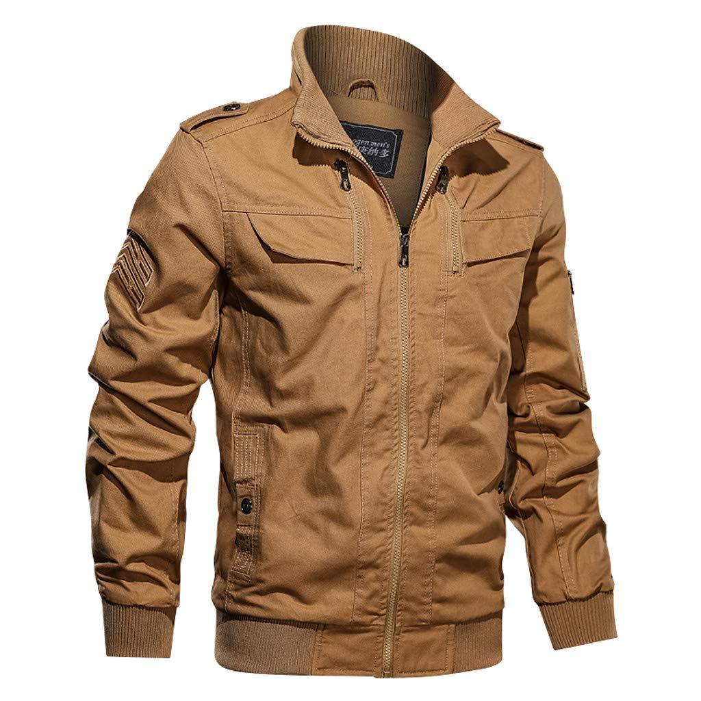 YKARITIANNA Men's Autumn Winter Military Outwear Pure Color Tactical Breathable Jacket Coat 2019 Summer Khaki
