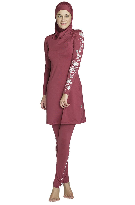 KEEN ZTQ Women's Full Cover Modest Swimsuits Muslim Burkini Swimsuits