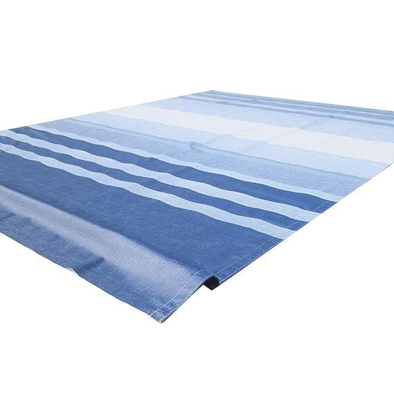 ALEKO RVFAB20X8BLSTR32 RV Awning Fabric Replacement 20 x 8 Feet Blue Striped