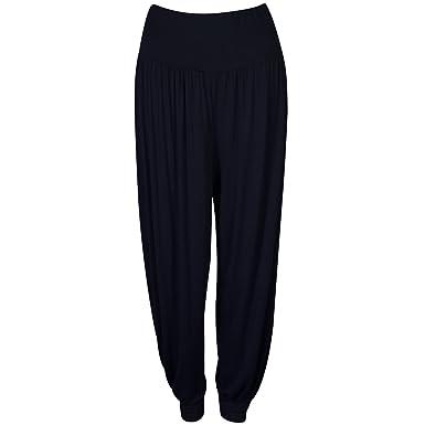 fd080b57583b17 LADIES WOMEN FULL LENGTH HAREEM ALI BABA PANTS BAGGY TROUSERS HAREM LEGGINGS:  Amazon.co.uk: Clothing
