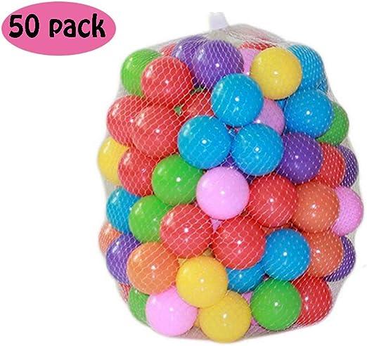 ZZM 50 Bolas de Colores Plástico Pelotas Multicolores del Océano ...