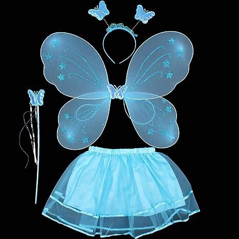 ZZM Fairy Princesa Disfraz Set Bebé Niñas Mariposa Ángel Carnaval ...