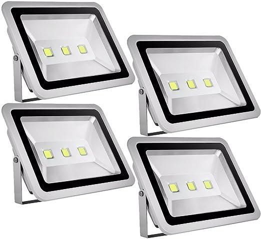 4pcs 150W LED Foco Proyector para Exteriores,ALPHA DIMA Blanco ...