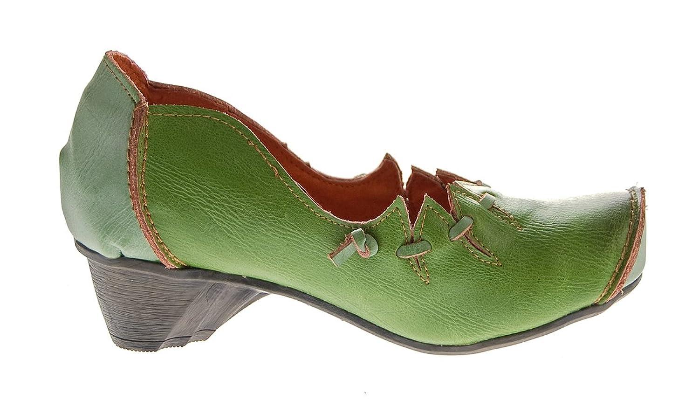 TMA Damen Leder Ballerinas Comfort Pumps echt Leder Schuhe Slipper TMA 8766 Rot Gr. 36 YJf9qBXy