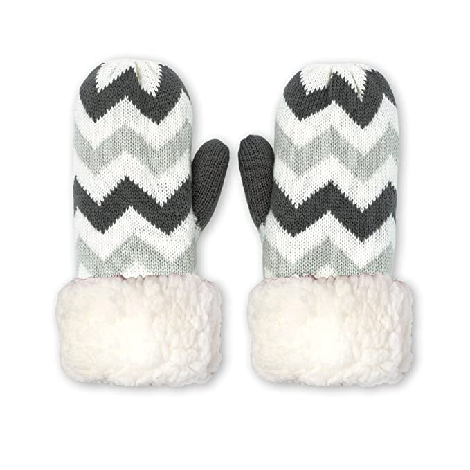 Image Unavailable. Image not available for. Color  Pudus chevron grey adult  one size cozy winter mittens 276fe9d3c0e4