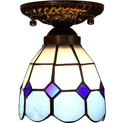 Lámpara Tiffany-luz de techo manual/luz de techo de ojos ...