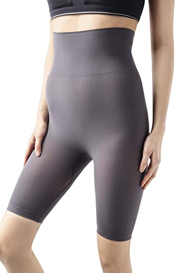 74ec492aead MD Women s Firm Control Shapewear Mid-Thigh High Waist Tummy Shaper Slimmer  Power Shorts LightNudeS at Amazon Women s Clothing store