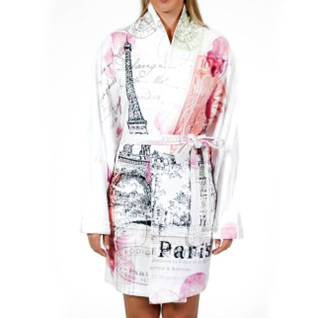 Wrap Up by VP Paris Love Note Luxury Microfiber Short Robe, S/M